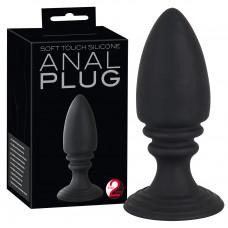 Anal Plug - szilikon anál kúp dildó (fekete)