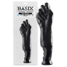 Basix Fist of Fury - nagy ököl dildó (fekete)